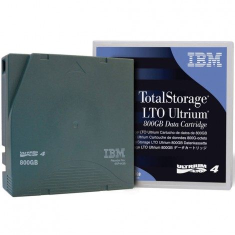IBM DATA CARTRIDGE, TAPE; LINEAR TAPE-OPEN 4 ULTRIUM, 800GB/1600GB, METAL PARTICLE, READ WRITE; INCLUDE