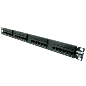 24 Port Category 5E, SL Series Patch Panel, LOADED