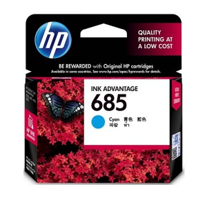 HP 685 Cyan Ink Cartridge