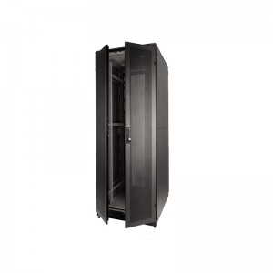 "ABBA-24"" 2 Compartment Co-location Rack 42U depth 900mm BLACK"