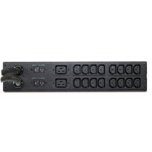 APC Rack ATS, 230V, 32A, IEC309 in, (16) C13 (2) C19 out