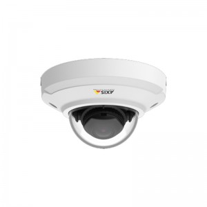 AXIS M3045-V Ultra-compact, indoor fixed mini dome with dust- and vandal-resistant casing for easy mounting on wall or ceiling. Fixed lens. Multiple, individually configurable H.264 and Motion JPEG streams; max HDTV 1080p at 30 fps with WDR. HDMI out