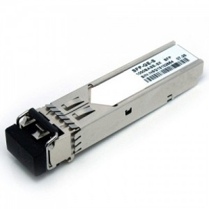 Cisco 1000BASE-SX SFP transceiver module for MMF, 850-nm wavelength, extended operating temperature range and DOM support, dual LC/PC connector