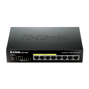 8-Ports 10/100/1000Mbps Unmanaged Gigabit with 4 PoE ports Switch
