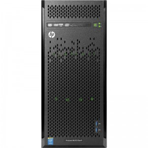 HP ML110 Gen9 E5-2603v3 - 4 LFF NHPL Intel(R) Xeon Six-Core(R) E5-2603v3 (1.6GHz/6-core/15MB/85W), 8GB (1x8GB Registered DIMMs, 2133 MHz), Broadcom 5717 Dual-port 1Gb, B140i, 1TB SATA, DVDRW, 5xPCI-E, 350W, Warranty 3-1-1-Year NBD, Keyboard and Mouse