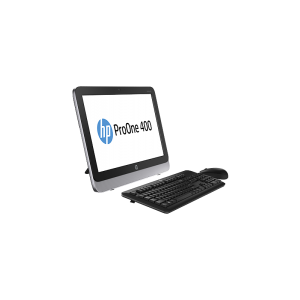 HP ProOne 400 G1 19.5-inch AiO (NON-TouchScreen), Intel Core i3-4160T 3.1GHz 3M Cache, FreeDOS, 2GB DDR3-1600 SODIMM (1x2GB) RAM, 500GB 7200 RPM SATA 6G 3.5HDD, Slim SuperMulti, Integrated Intel HD 4400, Intel 7260 802.11 a/b/g/n, HP USB Keyboard , HP USB