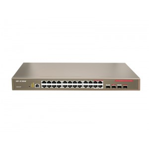 Switch Injector, G3224P24-Ports Gigabit PoE + 4 Combo SFP ports,24*GE+4*SFP+ 1*Console(RJ45)FullFull240370W
