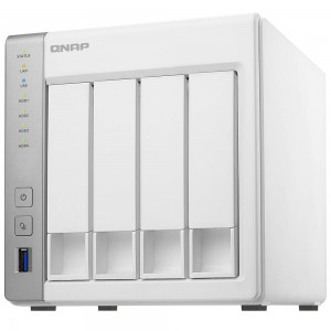 2-Bay TurboNAS, ARM Cortex-A9 dual-core 1.2Ghz, 512B RAM, SATA 6Gb/s, 2x GbE LAN, 3 x USB 3.0, eSATA port, HDD hot-swappable