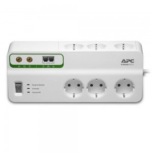 APC Home/Office SurgeArrest 6 outlets with Phone Protection 230V Germany