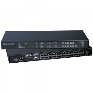 AUSTIN HUGHES CyberView KVM Switch 8 Port DB15, 1x Local. Console Include 8 Pcs CE-6 KVM Cable 6 FT Combo PS/2 or USB