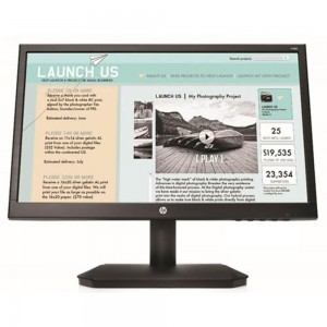 "HP V190 - LED MONITOR - 18.5"" (18.5"" VIEWABLE) - 1366 X 768 - TN - 200 CD/M² - 600:1 - 5 MS - VGA - BLACK"