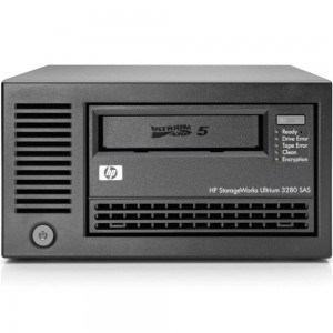 HPE STOREEVER LTO-5 ULTRIUM 3280 SAS EXTERNAL TAPE DRIVE, EH900B Ultrium 3280 LTO-5 full height LFF external SAS tape drive - 3TB compressed capacity, 1TB/hr compressed transfer rates, Linear Tape File System (LTFS), and AES 256-bit hardware encryption (O