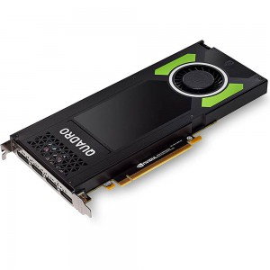 NVIDIA Quadro P4000, 8GB DDR5, 256bit, 1792 CUDA, Max Power Cons : 105W, 4x DP, 2x DP to DVI-D, Cable Power 6pin, Stereo Conn Bracket (MB Up to 243 GB/s)