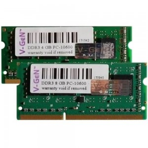 V-GEN Platinum SO-DIMM DDR3 8GB PC10600/PC12800 Low Voltage