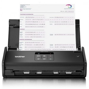 SCANNER BROTHER ADS-1100W (WiFi) A4/F4,16ppm, Duplex, ADF 20 sheet 500 sheets/day, 2x CIS, 600 dpi, USB 2.0, WiFi b/g/n, 1.5kgs