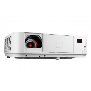 DLP PROJECTOR NEC M363W : Specifikasi :DLP, Resolution 1280 x800, Britghness 3600 ansli lumens, contras ratio 10000 :1., powerAC 338 w,Lamp life hour 5000 H, Eco mode 8000, Weight 3,7 Kg.
