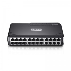 Netis Switch 24 Port Fast Ethernet Switch, Plastic housing