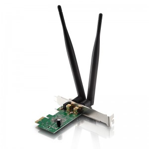 Netis Switch 300Mbps Wireless N PCI-E Adapter, 2*5dBi detachable antennas