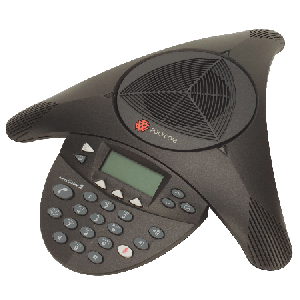Polycom SoundStation2 (analog) conference phone with display. Expandable. Includes 220V-240V AC power/telco module, power cord with UK plug, 6.4m console cable, 2.8m telco cable. Does NOT include expansion mics.