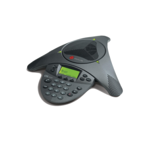 Polycom SoundStation VTX 1000 (analog) conference phone. Expandable. Includes 100-240V AC power/telco module with UK plug, 6.4m console cable, 2.8m telco cable. Does NOT include expansion mics and subwoofer.