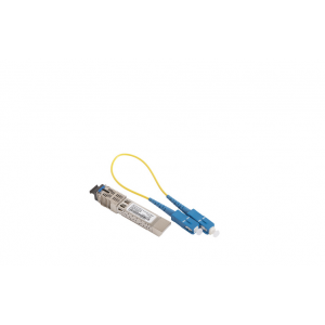 Ruckus 1000Base-LX, SFP (mini-GBIC) Optic Module, Single Mode, 10km reach, LC duplex, -40 to 85C. Includes LC-Duplex fiber patch cable.