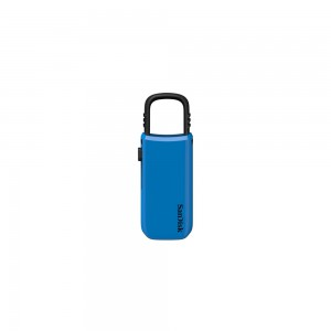 SanDisk Cruzer U USB Flash Drive, CZ59 8GB, USB2.0, Blue, clip-on design, 5Y