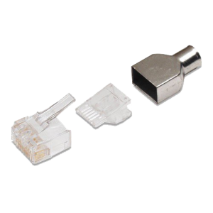 Unshielded, Solid 23-24AWG 100/box Cable OD 6 mm (Conector Cat 6)